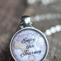 Enjoy The Journey Quote Necklace