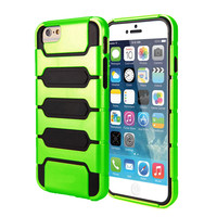 IPhone 6 / 6S Plus Hard Soft Rubber Impact Case Cover Green