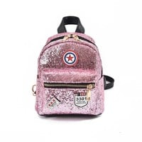 2017 New Arrival Women Bag  Sequins Backpack Girls Small Travel Princess Bling Backpacks high quality
