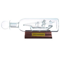 Ship in a Bottle - USS Constitution | Desk Accessories