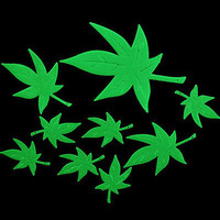 Maple Leaf Glow In The Dark Stars Stickers Kid Bedroom Room Home Wall Decor L. S