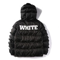 OFF WHITE Mens Men Hip Hop Jackets High Quality number 13 printed Fashion winter fashion Coat Kanye West Men Jacket