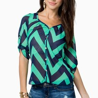 Bold Lines Blouse