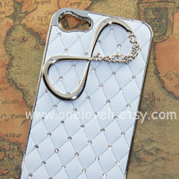 iphone 5 case,INFINITY--One Direction iphone case, directioner, white case ,crystal case for iPhone 5 Case