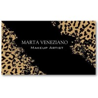 Makeup Artist III Professional Cosmetology Leopard Business Card Templates from Zazzle.com