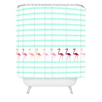 Monika Strigel Mini Flamingo Walk Shower Curtain