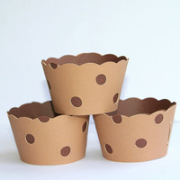 Milk and Cookies Chocolate Chip Cookie Cupcake Wrappers Set of 12