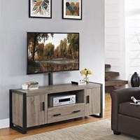 """60"""" Urban Blend TV Stand with Mount - Driftwood/Black"""