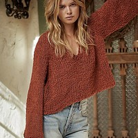 Free People Womens Dune Pullover