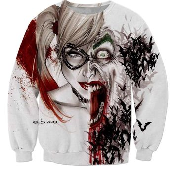 LiZhiYang NEW Fashion hot style men or women's 3D print Harley Quinn Joker sweatshirt enchantress pullover hoodies free shipping