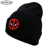 Deadpool Dead pool Taco 2017 Brand New Warm Winter Hat Skullies Beanies  Knitted Hat Black For Men Women Unisex Autumn Warm Beanie Knitting Hat AT_70_6
