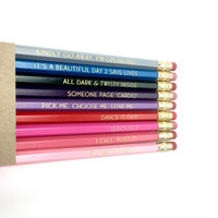 "GREY'S ANATOMY inspired pencil set - ""Pencil Anatomy"" - *NEW version!*"