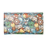Marvel Kawaii Characters Flap Wallet