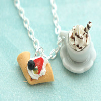 crepe and hot chocolate necklace