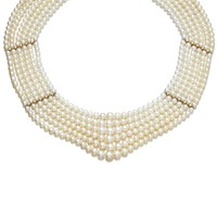 Natural pearl and diamond necklace, one pearl cultured   lot   Sotheby's