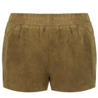 **Suede Runner Shorts by Kate Moss for Topshop - Olive
