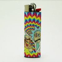 Rick and Morty Bic Lighter - Trippy Background - Custom Made - High Quality