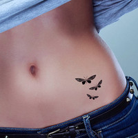 Butterfly tattoo pack of 3. Temporary tattoos. Party fake tattoo