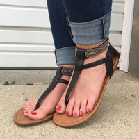 RAMPAGE You're Gonna Miss Me Sandals - Black