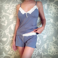 free shipping new arrival sexy lace women's pajama set, v-neck sleep set, temptation sleepwear L233