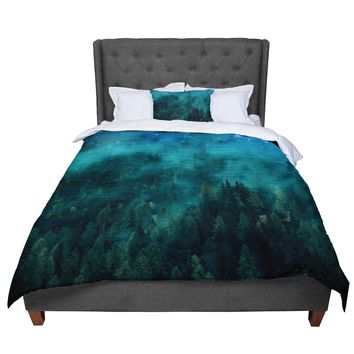 "888 Design ""Forest Night"" Green Digital Comforter"