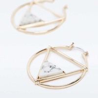 Howlite Triangle Hoop Earrings - Urban Outfitters