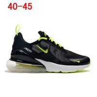 Nike Air Max 270 White Black Green Running Shoes - Best Deal Online