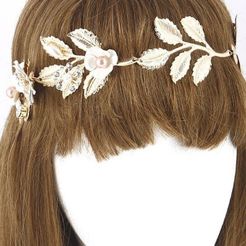 Flower Branch Linked Head Band