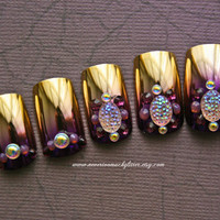 Japanese 3D Nail ArtBejeweled Twilight Deco by Nevertoomuchglitter