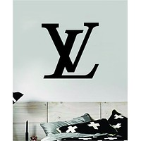 Louis Vuitton Logo V2 Wall Decal Home Decor Bedroom Room Vinyl Sticker Art Quote Designer Brand Luxury Girls Cute Expensive LV