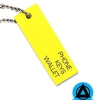 Phone Keys Wallet Keychain - Yellow