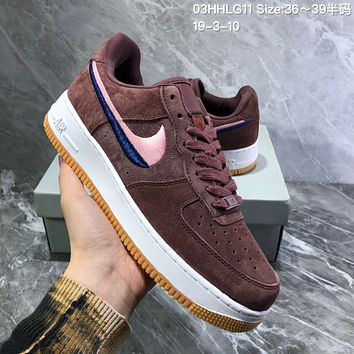 Nike M Af1 Upstep  Double-color embroidery hook for turning fur shoes