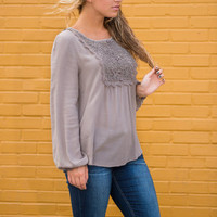 Love Is Strong Top, Taupe