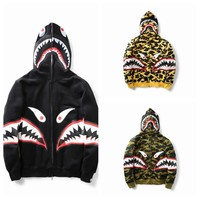 Unisex Fashion Winter Camouflage Shark Teeth Hoodies Windbreaker [11529795020]