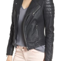 Goosecraft Dual Zip Leather Biker Jacket | Nordstrom