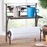 Horses & Barbwire Kitchen Shelf - Kitchen - Home