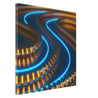Futuristic Rope Lights Stretched Canvas Print