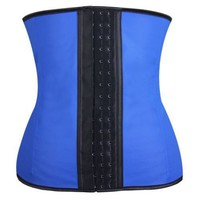 Women Latex Rubber Waist Training Cincher