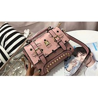 MCM 2018 counter female high quality wild beautiful s handbag F-AGG-CZDL Pink
