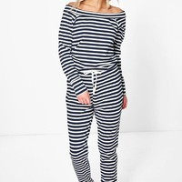 Heidi Slash Neck Long Sleeve Jumpsuit