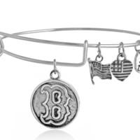 """Alex and Ani style letter """"B"""" pendant charm bracelet,a perfect gift !"""