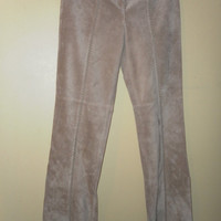 Vintage Suede Pants Leather Hippie Woodstock bell bottoms Jeans