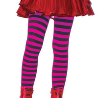 Tights Chld Striped Bk-pr 7-10