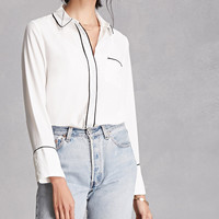 Contrast-Trimmed Collared Shirt
