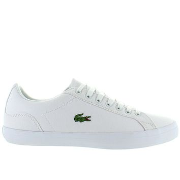 Lacoste Lerond - White Canvas Classic Lace Sneaker