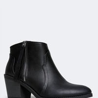 Rowley Zipper Ankle Bootie
