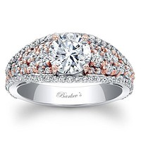 Barkev's Two Tone Pave Set Diamond Engagement Ring