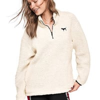 Sherpa Boyfriend Quarter-Zip - PINK - Victoria's Secret
