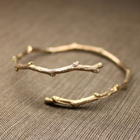 Twiggy Open Bangle in Rose Gold Vermeil (SHIPS PRIORITY ONLY until December 12th, 2012))
