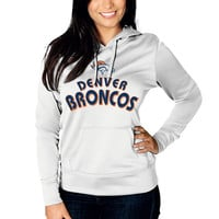 Women's Denver Broncos Majestic White Breakout Play VI Pullover Hoodie